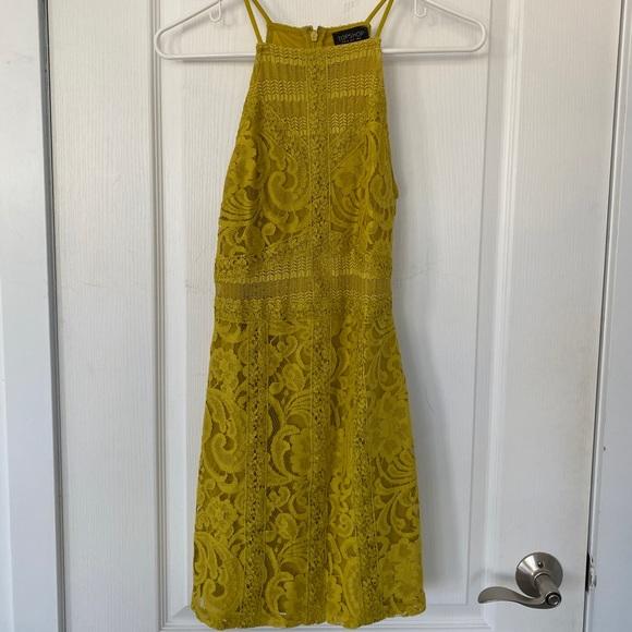 Top shop Mustard yellow halter dress